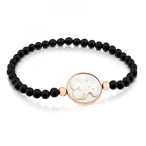 TOUS Onyx Camee Bracelet with White (Cameo Sterling Silver Setting Measures)