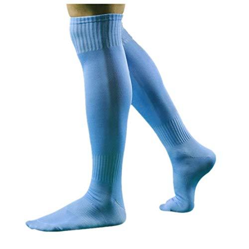 - On Sales! NEEKEY Men Sport Football Soccer Long Socks Over Knee High Sock Baseball Hockey SB(Free Size,Sky Blue)