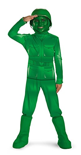 Army Halloween Costume Makeup (Green Army Man Child Costume - X-Small)