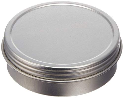 Screw Top Round Steel Tin Can, 1oz (24 Per Pack)