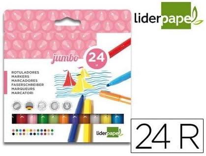 Liderpapel Rotulador Jumbo Caja 24 Colores: Amazon.es: Oficina y papelería