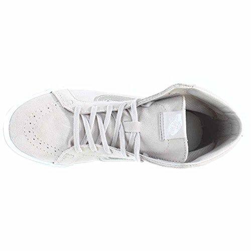 Vans Unisex Sk-8Hi Slim-Ausschnitt (Mesh) Skate-Schuh Silberne Wolke