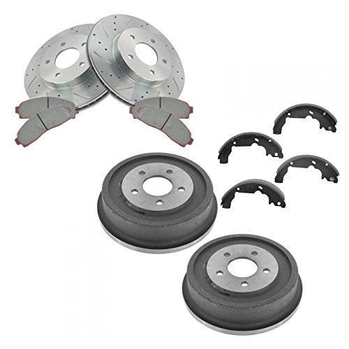 Front Performance Brake Rotor & Ceramic Brake Pad Rear Drum