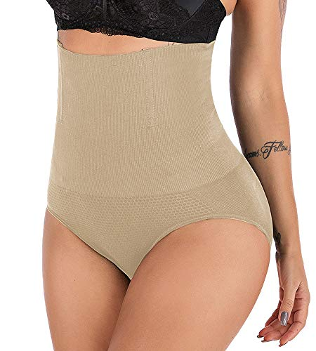 DODOING Womens High Waist Butt Lifter Shapewear Tummy Control C-Section Recovery Panties Underwear Nude