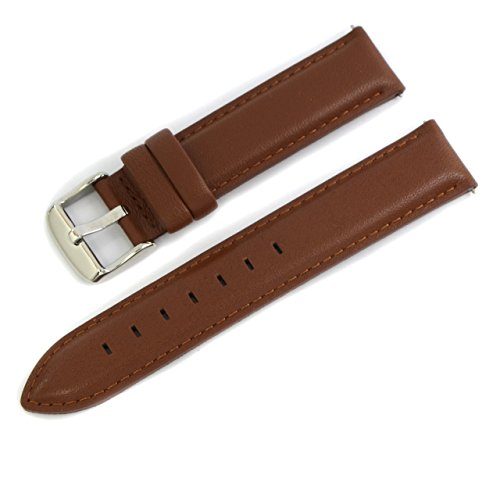 (CASSIS Type DW Genuine Calf Leather Waterproof Lining Watch Strap for 36mm Daniel Wellington Watches 18mm Light Brown with Tool D0029169041018M )