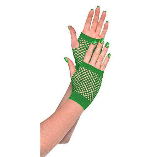 Amscan Short Fishnet Gloves, Party Accessory, -