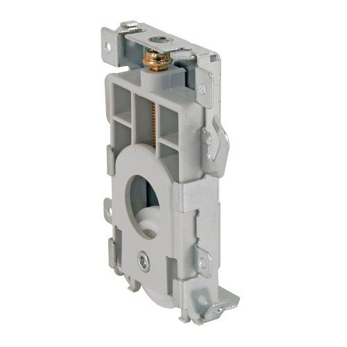 Prime-Line Products N 7235 Mirror Door Bottom Roller, Convex Wheel, Gray Plastic