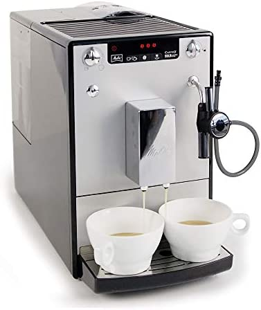 Melitta Machine à Café Automatique, Auto Cappuccinatore, Caffeo Solo & Perfect Milk, Argent, E957-103