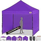 ABCCANOPY 15+Colors Commercial 10x10 Ez Pop up Canopy, Party Tent, Fair Gazebo and Roller Bag Bonus 4X Weight Bag, Purple