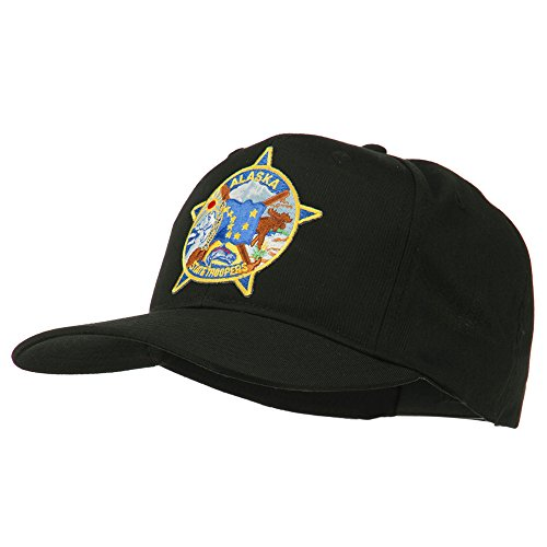 E4hats Alaska State Troopers Patch Cap - Black OSFM