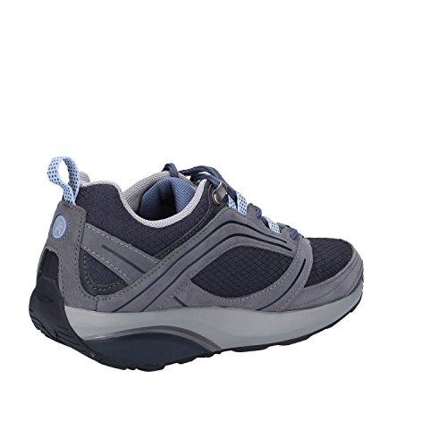 MBT Sneakers donna 38 EU Blu Grigio Tessuto Nabuk