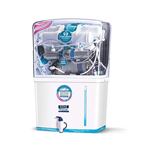 Kent – 11076 New Grand 8-Litres Wall-Mountable RO + UV+ UF + TDS (White) 20 litre/hr Water Purifier