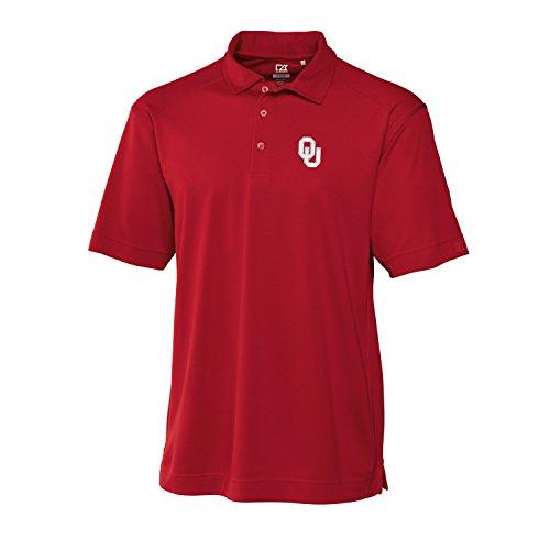 Cutter & Buck NCAA Oklahoma Sooners Men's CB Dry Tec Genre Polo, XX-Large, Cardinal Red
