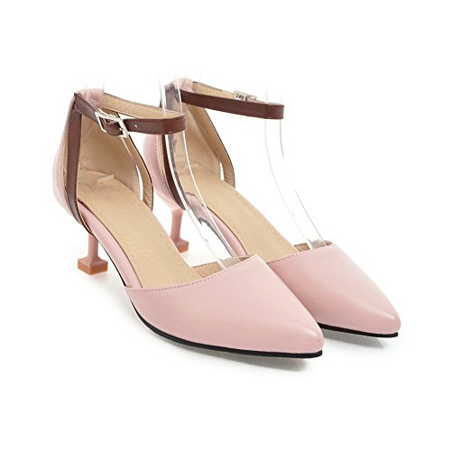 Closed Lining Urethane Cold Smooth Toe Pink Sandals Sandals BalaMasa ASL04507 Closure Leather Huarache No Womens EqRw0