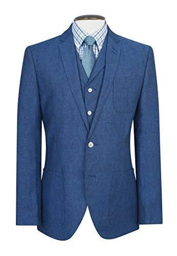 moda firmata 196f3 768ab Brook Taverner Dickens Moda Blu Giacca di Lino: Amazon.it ...