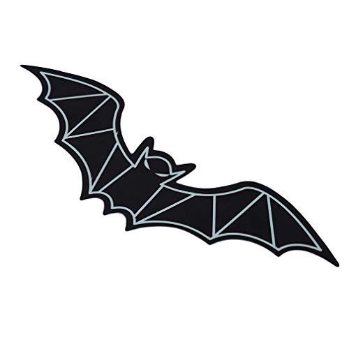 Yevison Luminous 3D Plastic Bat Home Tv Backgroud Halloween Decorative Wall Sticker Durable and Practical