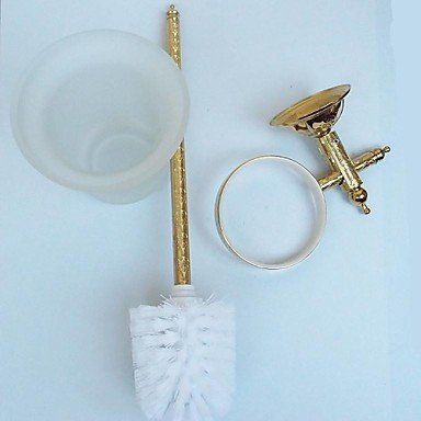 XY&XH Toilet Brush Holder , Antique Wall-mounted Ti-PVD Finish Toilet Brush Holder