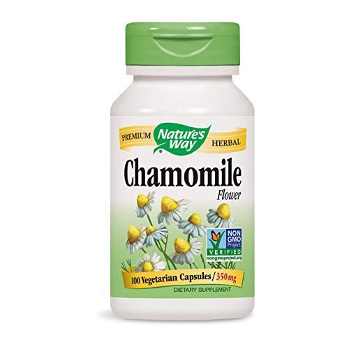 Nature's Way Chamomile Flower 350 mg, 100 VCaps (Packaging May Vary) ()