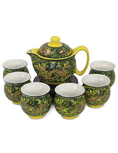 dragon teapot set - 6