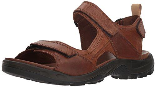 ECCO Men's Yucatan outdoor offroad hiking sandal, cocoa brown/powder, 47 EU (US Men's 13-13.5 M)