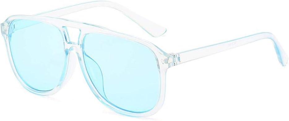 Gafas De Sol Gafas De Sol De Gran Tamaño Cuadradas con Gafas Retro para Hombres, Mujeres Transparentes Coloridas, Gafas De Sol Vintage Uv400