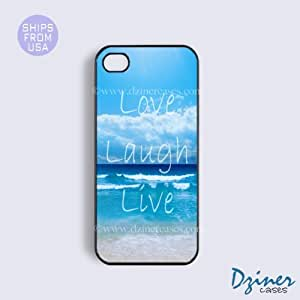 iPhone 5 5s Case - Love Laugh Live Beach iPhone Cover
