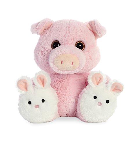 Aurora World Taddle Toes Stuffed Animal, Pink, (Toe Animal)