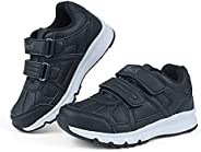 EDOSIR Kids Sneakers Breathable Hoop and Loop Boys Running Walking Shoes Mesh Lightweight Girls Athletic Casua
