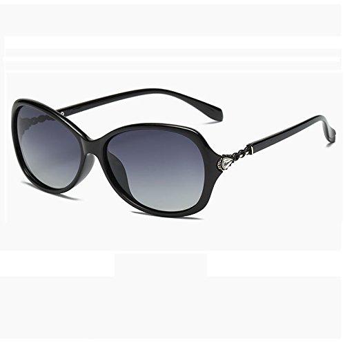 7937c2f401 Burenqi@ Lunettes polarisantes lunettes ronde élégante et rétro lunettes  encre conduite actuelle contre ...