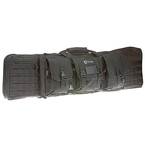 [Drago Gear Double Gun Case, Black, 42-Inch] (Gear Rifle)