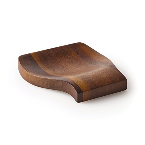 Tile 5 Piece Natural Finish (Kamenstein 5186011 Acacia Wood  Spoon Rest, 4.75-Inch, Natural)