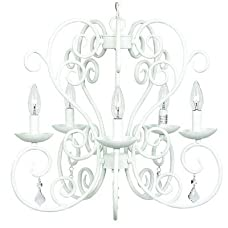 Jubilee Collection 75502 5 Arm Carriage Chandelier, White