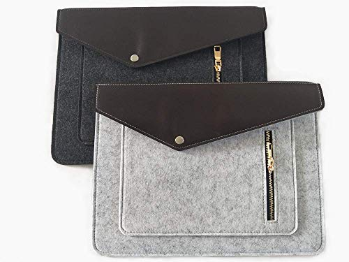 File folders-Felt Folder Expanding File Folder Portable Felt Holder documents Envelope Luxury Office Durable Briefcase Document Laptop Bag Paper Portfolio Case A4 Folders ... (2 pcs)