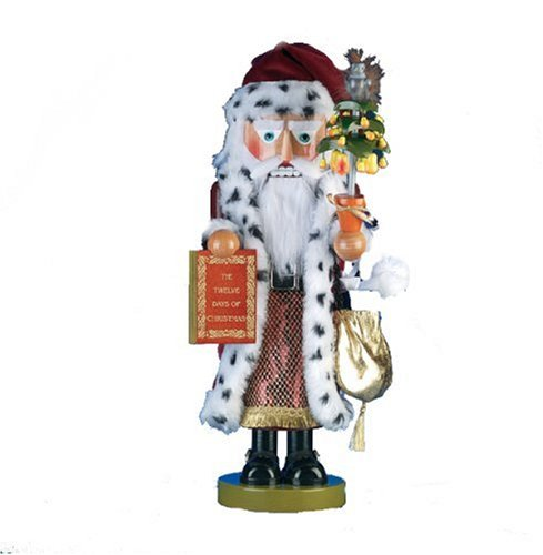 Kurt Adler 17-1/2-Inch Limited Edition Steinbach Twelve Days of Christmas Musical ''Pear Tree Santa'' Nutcracker