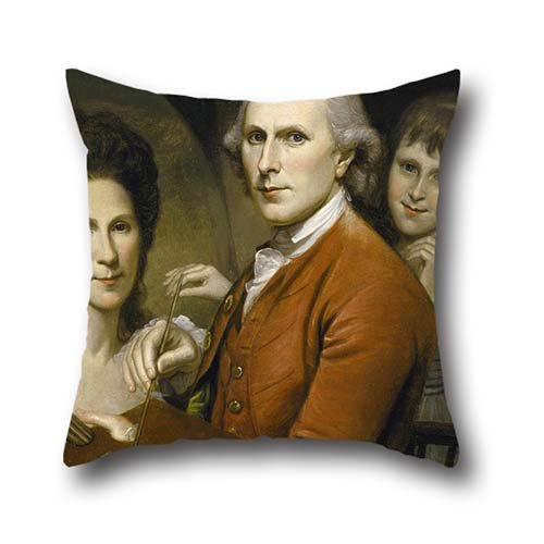 20 X 20 Inch / 50 By 50 Cm Oil Painting Charles Wilson Peale - Self-Portrait With Angelica And Portrait Of Rachel Pillow Shams ,2 Sides Ornament And Gift To (Rachel Pillow Sham)