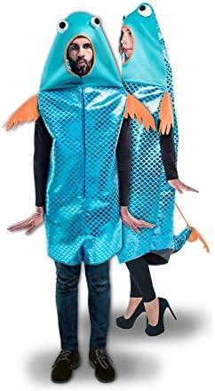 Disfraz de Pez azul para adulto: Amazon.es: Juguetes y juegos