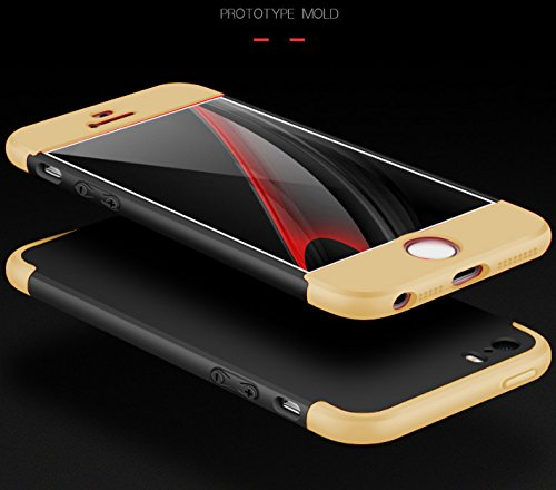 iPhone 5S SE Degres 1 Rigide vanki Ultra Souple 360 pour PC Rcurer Lger 5 Coque Noir Shell 5 5S or en iPhone Protector 3 Case SE vRxBRIq
