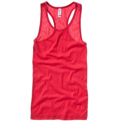 Bella Leinwand Sheer Rib Racerback Tank Damen Top Rot XL