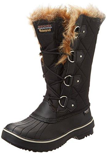 Skechers Women's Highlanders-Tall Quilt Snow Boot,Black,7.5 M US - Skechers Tall Boots