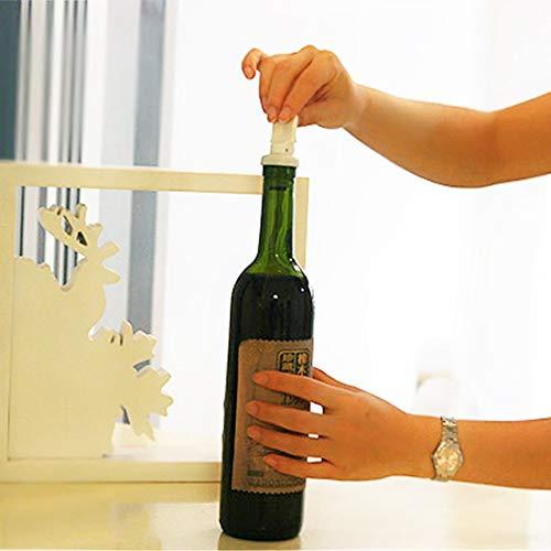 White FinukGo White Plastic Superior quality3pcs Reusable Flip Top Bottle Lids Vacuum Sealed Wine Beer Stopper Cap Popular Stylish