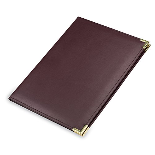 Samsill Classic Collection Deluxe Executive Padfolio with Padded Cover - Interview / Business Portfolio with Brass Corners, 8.5 inch x 11 inch Writing Pad (Mens Executive Collection)