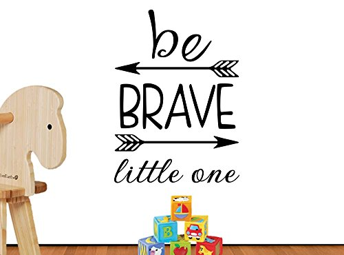 Be Brave little one 16 X 23 Arrows cute hearts playroom sticker nursery vinyl saying lettering wall art inspirational sign wall quote decor Decal by Simple Expressions Arts