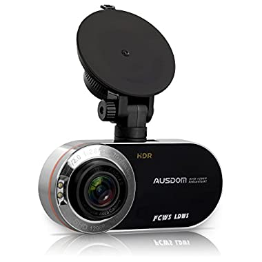 AUSDOM AD260 2.7  LCD Dash Cam FHD 1080P&1296P Dashboard Camera Car Camera With HDR, WDR, G-Sensor, Motion Detection, Parking Monitor