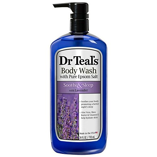(Dr Teal's Pure Epsom Salt Body Wash Soother & Moisturize With Lavender 24 oz (Pack of 3))