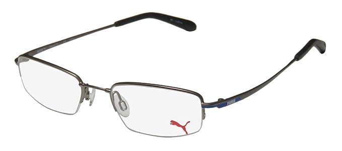 Amazon.com: Puma Eyeglasses PU15367 PU/15367 Grey Half Rim Optical ...