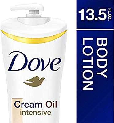 Dove Body Lotion, Cream Oil Intensive, 13.5 Ounce (Pack of 3)