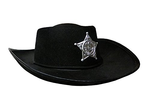 Funny Fashion Black Child Boys Cowboy Sheriff Hat Costume Accessory Lone Ranger Western Prop