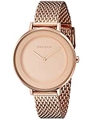 Skagen Womens SKW2334 Ditte Rose Gold Mesh Watch