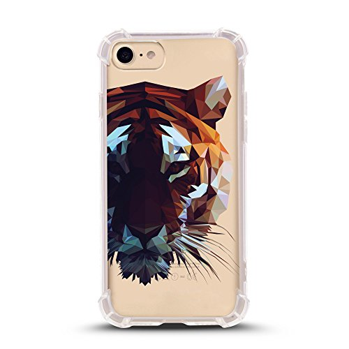 (iPhone 8 case with Shock Absorbent (4.7 inch screen), tiger portrait Design (Compatible with iPhone 8 ONLY, not iPhone 8 PLUS))