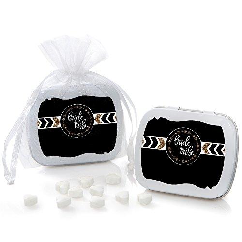 Bride Favor Tin - Bride Tribe - Mint Tin Bridal Shower & Bachelorette Party Favors - Set of 12